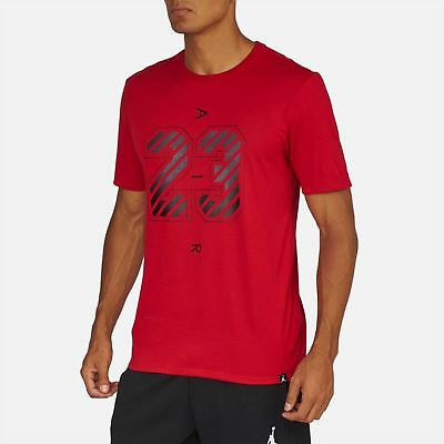NEW Nike Air Jordan The Iconic 23 Dri Fit T Shirt Red Black BRED AQ8028-687  $35