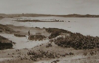 L'ancresse Bay And Common Guernsey 1929 Photo Postcard