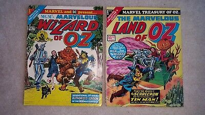 MGM's Marvelous WIZARD OF OZ & Land of Oz Comics large format 1975 Vol.1 No.1