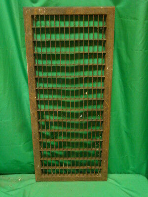 Huge Vintage 1920S Iron Heating Return Grate Rectangular Design 14 X 32