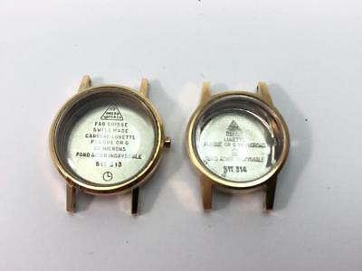 Lot of 2  watch case Omega  New old stock 1970