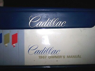 Complete Owners Manual For 1967 Cadillac Coupe Deville, Fleetwood, Eldorado