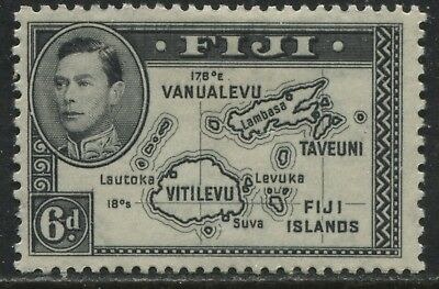 Fiji KGVI 1938 6d black (no 180 degrees) mint o.g.