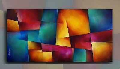Modern Abstract Art Contemporary Giclee Canvas Print Of A