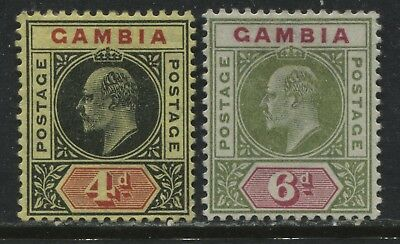 Gambia KEVII 1902 4d and 6d mint o.g.