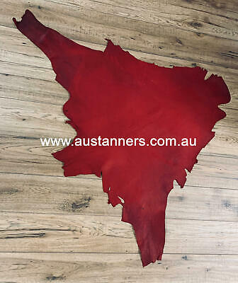 Vegetable Tanned Kangaroo Skin Red Hide