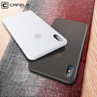 For iPhone Xs Max XR X Matte Transparent Ultra Thin Shockproof Back Case Cover