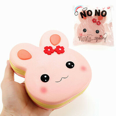 aa4c6fe19f6 No no Squishy Rabbit Cake 13cm Slow Rising with Packaging Collection Gift  Decor