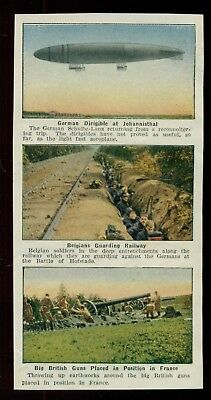"WW1 Double Sided Six Photo Strip ""German Dirigible at Johannisthal"""