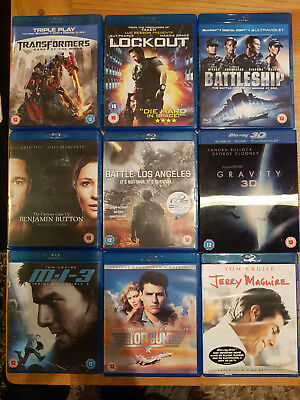 Job lot of 34x BLU-RAY movies - all in excellent condition, inside and out!