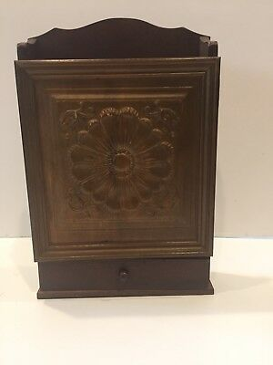 Vintage Wood Spice / Apothecary Cabinet