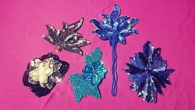 Whole Sale Lot of Sequin Hair Clips Mardi Gras