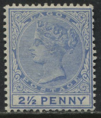 "Lagos QV 1891 2 1/2d ""Larger Letters"" ultra mint o.g."