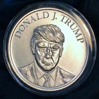 Donald J. Trump Inauguration 1 oz 39mm .999 Fine Silver Make America Great Again