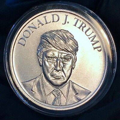 Donald J. Trump - Campaign - 1 oz 39mm .999 Fine Silver Make America Great Again