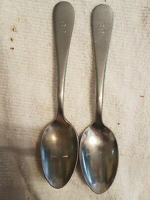 Pair of US military spoons stainless