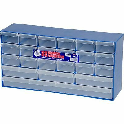 1H053 FISCHER PLASTIC Multi-Size 22-Drawer Cabinet Compartments