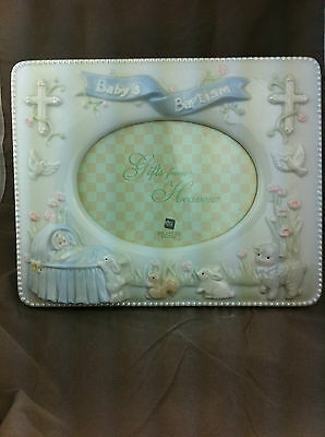 Baby's baptism porcelain picture frame by Russ Berries