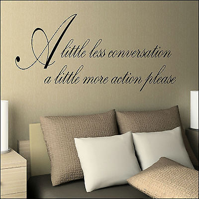 Elvis Presley Wall Sticker Of Lyrics Little Less Conversation Little More Action