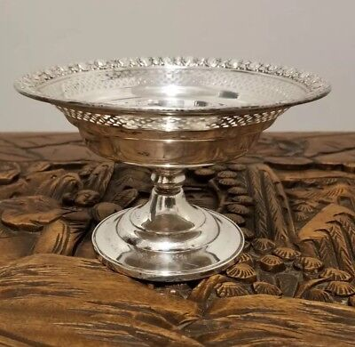 Vintage National Sterling Silver Candy Dish Bowl weighted