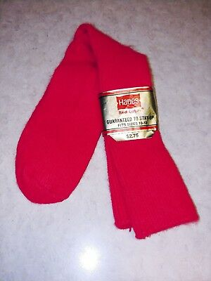 Vintage Hanes Red Label Socks Mens 10-13 Orlon Acrylic