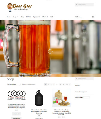 Home Beer Brewing Drop Shipping Website Business For Sale Unlimited Stock