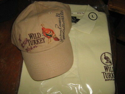 Wild Turkey Polo Shirt and signed Cap