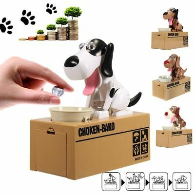 New Cute Dog Model Piggy Bank Money Save Box Pot Coin Kids Child Xmas Gift