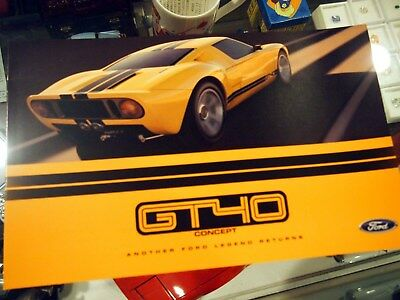 Ford GT40 Concept Car brochure - extremely rare!!