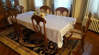 Solid Wood Dining Room Set Table Sectional Chairs Moving Sale