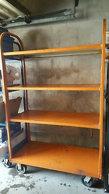 Industrial Heavy Duty Steel Shelving for Storage with Wheels Local Pickup NJ