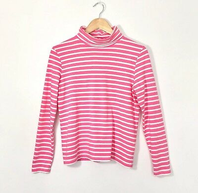 90s Style Pink White Turtle Neck Sweater Jumper Top 10 M