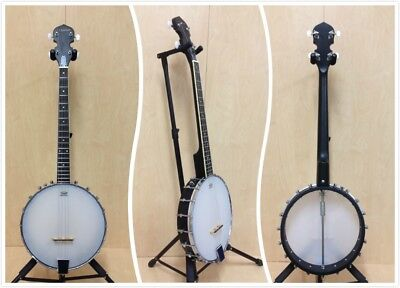 Denver 4-String Open-back Tenor Banjo,Black Rim+Free Gig Bag-Cosmetic Blemished