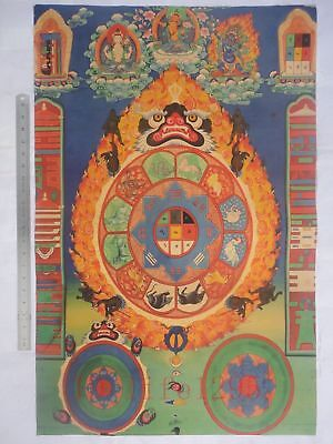 Collection Vintage Decoration Sacred Buddhist Buddhas Thangka Paintings