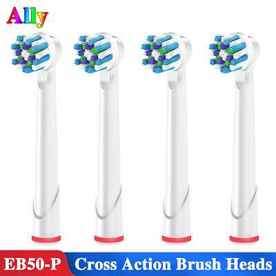 4pcs EB50 For Oral-B Vitality Cross Action Replacement Electric ToothBrush Heads