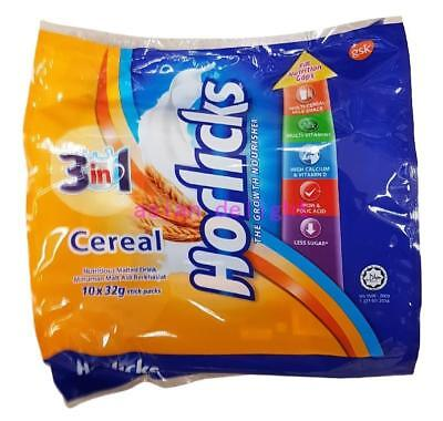 Horlicks 3 in 1 Cereal Nutritious Malted Drink ( 32 g x 10 sticks )