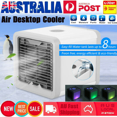 AU Portable Mini Air Conditioner Cool Cooling For Bedroom Artic Cooler Fan USB