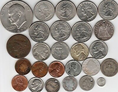 26 different world coins from UNITED STATES OF AMERICA some scarce