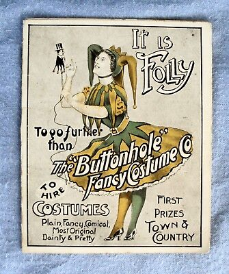 "An Old Catalogue for the ""Buttonhole Fancy Costume Co."""