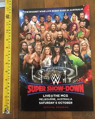 Wwe Wrestling Super Show-Down Official Program Mcg 6/10/18 Melbourne Australia