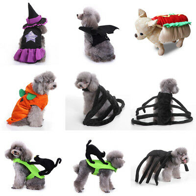 Halloween Pet Dog Cat Cosplay Spider Costumes Clothes Puppy Xmas Party Apparel