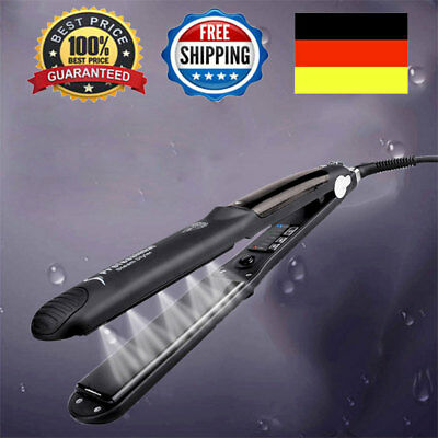 55W Steam Flat Iron Professional Ceramic Hair Straightener for Dry & Wet EU PLUG