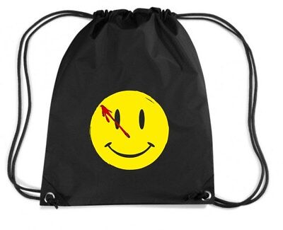 Zaino Zainetto Budget Gymsac  TR0155 Watchmen Smiley Face DC Comics.