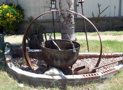 * 100+ Year Old Huge Antique Vintage Cast Iron Cauldron Local Socal Pick Up *