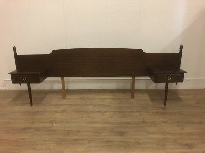 Clean Stag Minstrel King sizeheadboard With Fixed Single Drawer Bedside Cabinets