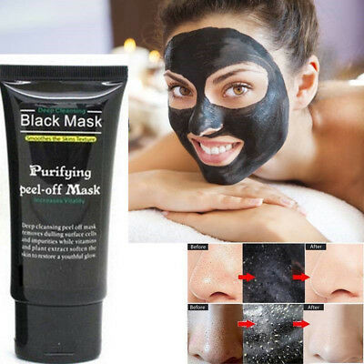 Blackhead Remover Facial Cleansing Charcoal Mask Purifying Black Peel-off Mask.