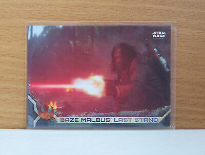 Star Wars Rogue One series 2 Baze Malbus #88 Gray Grey parallel card 28/100