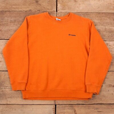 Boys Vintage Columbia Orange Crew Neck Sweatshirt Jumper Large R10016