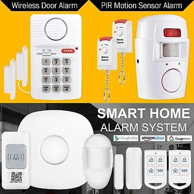Smart Wireless Alarm System Home Property Motion Security Kit & Accessories UK