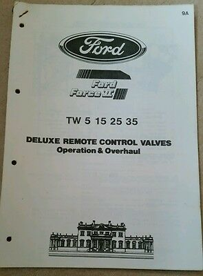 Ford Tw5 Tw15 Tw25 Tw35 Tractor Remote Control Valves Operation Info